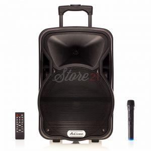 Boxa Activa Portabila ,90 W, Troler Ailiang A12, 12 Inch ,Microfon Wireless, USB, Radio, Bluetooth