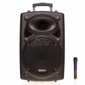 Boxa Activa Portabila Troler Temeisheng L12,200W, 12 Inch , Microfoan Wireless, USB, Bluetooth