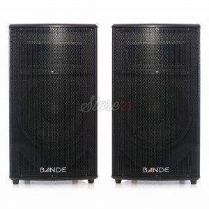 Set Boxe Profesionale Cu Statie Active Bande P12 , 550 W USB , Card , Radio FM,Bluetooth