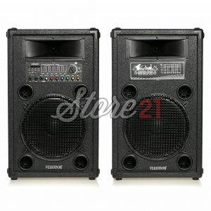 Set Boxe  Active Profesionale  Vlliodor 2072, 500 W , Sunet Puternic , Bluetooth , Usb ,SD Card, 2 Subwoofere De 12 Inch + Cadou Microfon