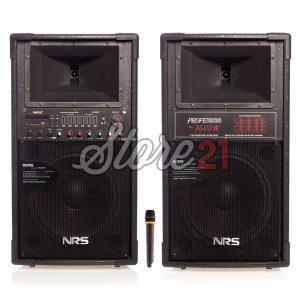 Set Boxe Active Profesionale NRS-2022,640W,12 INCH, Microfon Wireless, USB, Radio, Bluetooth