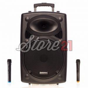 Boxa Activa Portabila ,400W, Troler Temeisheng 2305, 15 Inch , 2 Microfoane Wireless, USB, Radio, Bluetooth
