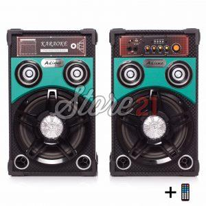Set Boxe Active Ailiang Verde,360W, 10 Inch,Bluetooth,Radio,Telecomanda+mic