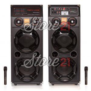 Set Boxe Profesionale Active Tala, 700 W ,2 Microfoane Wireless, Sunet Puternic , Bluetooth , Usb ,SD Card,Radio, 4 Subwoofere De 10 Inch,