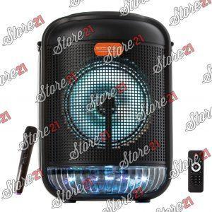 Boxa Activa Portabila Smart Bass 100 W, Bluetooth, Bass 6,5 Inch, Microfon cu fir, Radio, Ecran Lcd+cadou stick 4GB