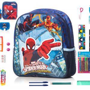 Pachet Gradinita WOW Set Rechizite 19 Piese Calitate Premium, Ghiozdan Spider Man Original.