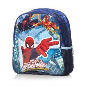 hiozdan Gradinita Spider Man Original, Un Compartiment principal mare, 2 Buzunare Laterale,Bretele reglabile