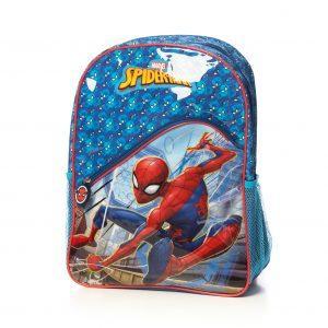 Ghiozdan Mare SpiderMan Original, 2 Compartimente , 2 Buzunare Laterale, Bretele reglabile.