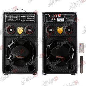 Set boxe ACTIV, cu AMPLIFICATOR, multifunctional (inclusiv KARAOKE) cu bluetooth, USB (mp3), AUX, card SD,+microfon, telecomanda