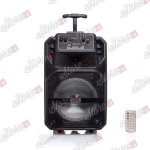 Boxa Activa  Portabila 1709, 8 Inch  USB, Radio, Bluetooth,telecomandă,Joc de luminii