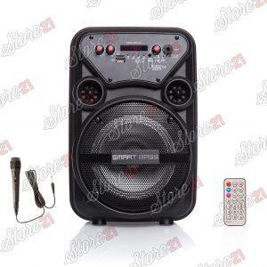 Boxa Activa  Portabila Smart Bass 100 w , 8 Inch ,Microfon Cu Fir, USB, Radio, Bluetooth,telecomandă
