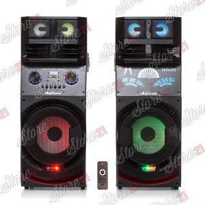 Set Boxe Active disco , 500W ,Telecomanda, Bluetooth ,Radio, Usb ,SD Card,Joc Lumini, 2 Subwoofere De 10 Inch