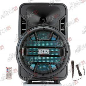 Boxa Activa Portabila 250 W , 8 Inch ,Microfon Cu Fir, USB, Radio, Bluetooth,Telecomandă+Cadou husa laptop + bratara fitness