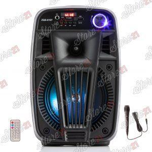 Boxa Activa Portabila 80W  , 7 Inch , USB, Radio, Bluetooth,Telecomandă+ Cadou Microfon Cu fir