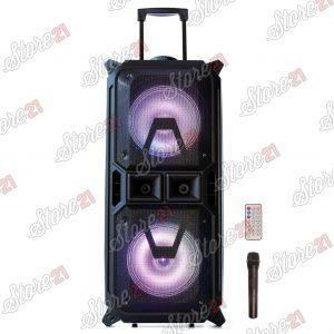 Boxa Troler  XXL Profesionala Portabila DJ TIME , 300W, 2X8inch , Microfoan , USB, Radio, Bluetooth,Card