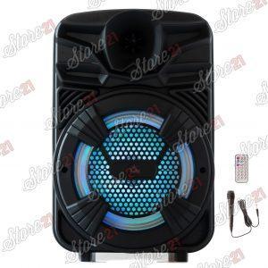 Boxa Activa Portabila 100 W , 8 Inch ,Microfon Cu Fir, USB, Radio, Bluetooth,Telecomandă+Cadou bateria externa 20000mah+HUSA TABLETA