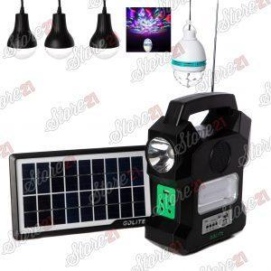 Kit Incarcator Urgente cu Panou Solar GdLite ,radio FM,lanterna,lampa 12 LED