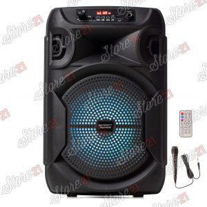Super oferta boxa activa portabila, bass puternic , 150 W,Microfon Cu Fir, USB, Radio, Bluetooth,Telecomandă + Cadou casca bluetooth + husa tableta