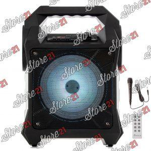 Boxa Bluetooth Profesionala Cu Acumulator,150 W, Difuzor 6.5 Inch ,Usb,Radio Fm + Microfoan CU Fir+Cadou  casca Bluetooth