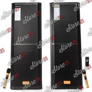 Set Boxe Profesionale Active , Bluetooth , 1000 W  , cu Mixer Puternic 2 microfoane fara fir cu ecran LCD+Telecomanda