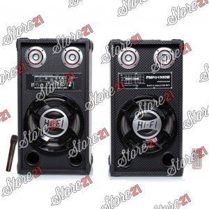 Set boxe Active 350 W, cu AMPLIFICATOR, multifunctional (inclusiv KARAOKE) cu bluetooth, USB (mp3), AUX, card SD+microfon+Telecomanda