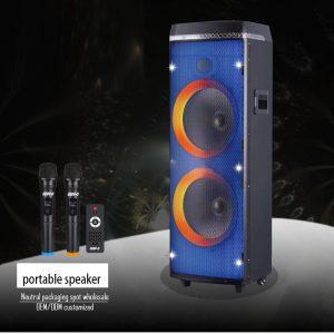 Boxa Bluetooth Activa 800W, Karaoke, Radio Card, USB, MP3, 2 Microfoane Wireless, Telecomanda, joc de lumini full RGB!!